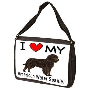 I Love My American Water Spaniel Laptop Bag - Shoulder Bag - Messenger Bag 2