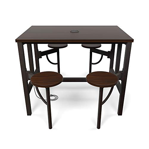 OFM 9004-WLT-WLT Model 9004 Endure Series Standing Height 4 Seat Table, 38'' Height, 31.25'' Width, 47.625'' Length, Walnut by OFM (Image #3)
