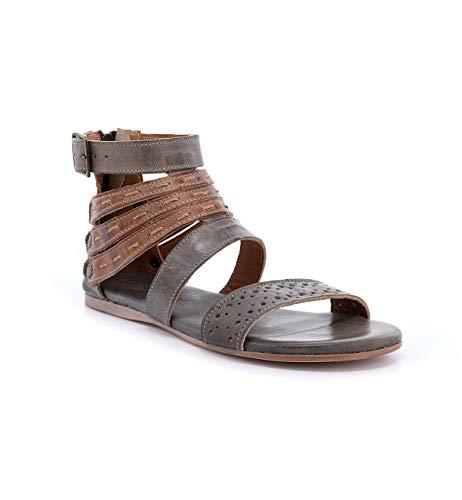 Bed|Stu Women's Artemis Leather Sandal (7 M US, Taupe Rustic Tan Rustic Mason BFS)