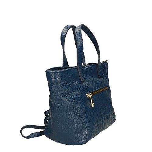 Blu Made In Donna Cm Handbag Italy A Vera Mano Da 25x20x10 Pelle Borsa Aren wOaBqSzTxO