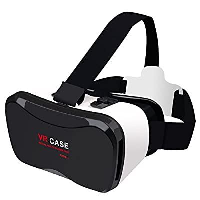 """2016 Virtuality Reality Headset 3D VR Glasses VR Case 5Plus 3D Videos Games/Movies for iPhone 6s/6 plus/6/5s/5c/5 Samsung Galaxy s5/s6/ and Other Android 4.0""""-6.3"""" Cellphones"""