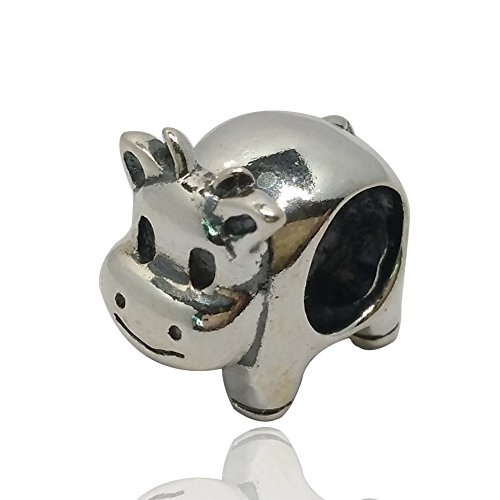 Cow Beads Charm 925 Sterling Silver Animal Beads fit for DIY Charms Bracelets (cow)