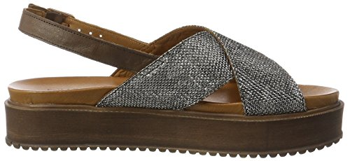 Inuovo 7157 - Tacones Mujer Grau (Grey Black-Dark Brown)
