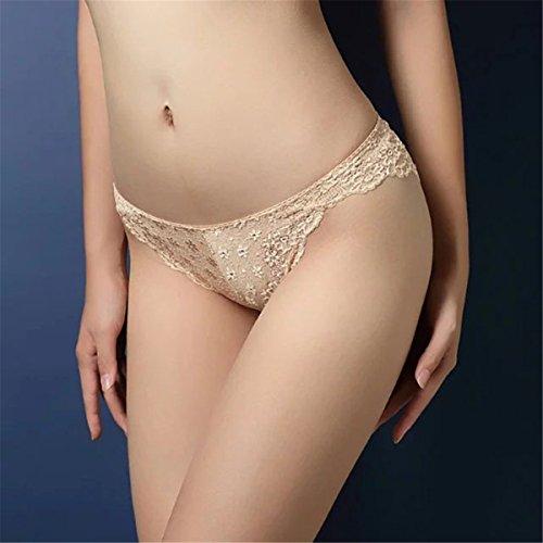 YALL-Sra. Ropa interior de cintura baja de la cadera conformación escritos respirables del hueco del cordón rou
