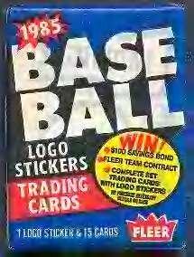 Lot of 3 1985 Fleer Baseball Wax Packs (45 Cards Total) P...