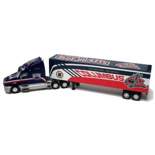 NHL Columbus Blue Jackets Tractor Trailer 1:80 Scale Diecast (Nhl Diecast Collectibles)