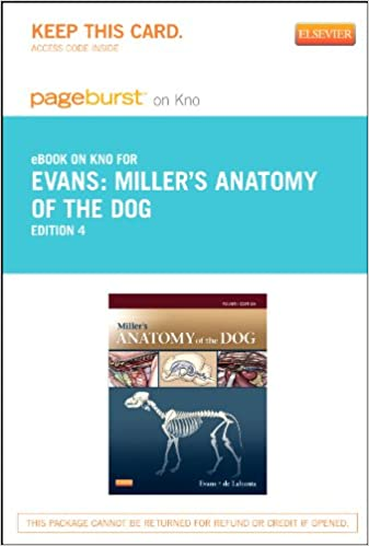 Buy Miller\'s Anatomy of the Dog Pageburst on Kno Retail Access Code ...