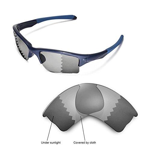 Walleva Replacement Lenses for Oakley Quarter Jacket- Multiple Options (Transition/Photochromic - - Quarter Lenses Polarized Jacket Oakley
