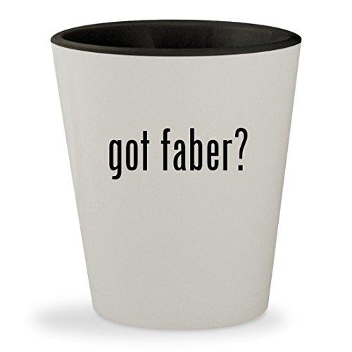 got faber? - White Outer & Black Inner Ceramic 1.5oz Shot Glass