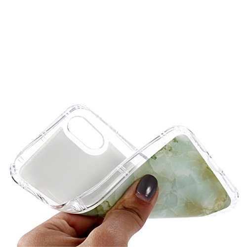 UKCOCO Funda para teléfono iPhone X, funda impermeable para mujer, niñas Funda protectora suave, resistente al rayado, duradera y anti rasguñaje para mujer (Amarillo) Verde