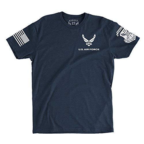 - BUNKER 27 Official Air Force Logo T-Shirt (Medium, Dark Navy)