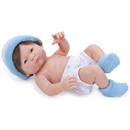 9.5 inch Mini La Newborn Baby Doll - Blue Booties
