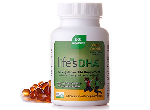 Life's DHA ®  Kids All-Vegetarian DHA Dietary Supplement | Supports a Healthy Brain, Eyes & Heart* | 100% Vegetarian | From All-Natural Plant Source | 100 mg of DHA Omega-3 | 90 Easy-To-Swallow Softge