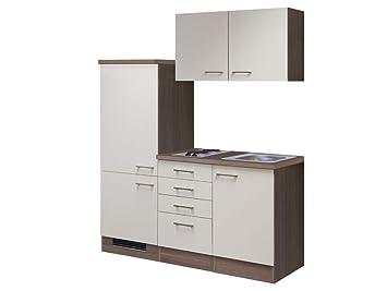 Smart Möbel Küchenzeile 160 cm Magnolie/Tennessee Eiche ohne ...