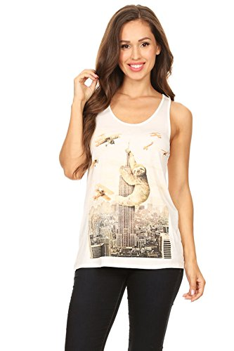 Bear Dance Women's Tank top|Giant Sloth on Empire state Building