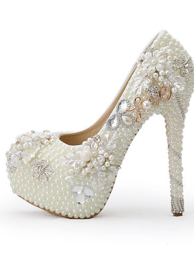 GGX/Damen Schuhe Stiletto Heel Heels Heels Hochzeit/Party & Abend/Kleid Beige 5in & over-us8.5 / eu39 / uk6.5 / cn40