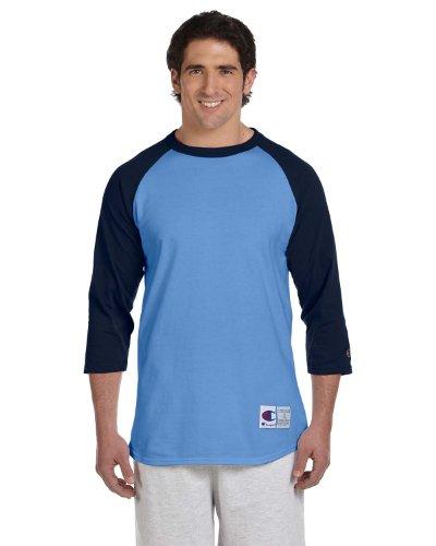 Champion 5.2 oz. Raglan Baseball T-Shirt, Medium, LIGHT ()