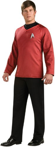 [Rubie's Costume Star Trek Grand Heritage Scotty Shirt With Emblem, Red/Black, Medium Costume] (Star Trek Costume Ideas)