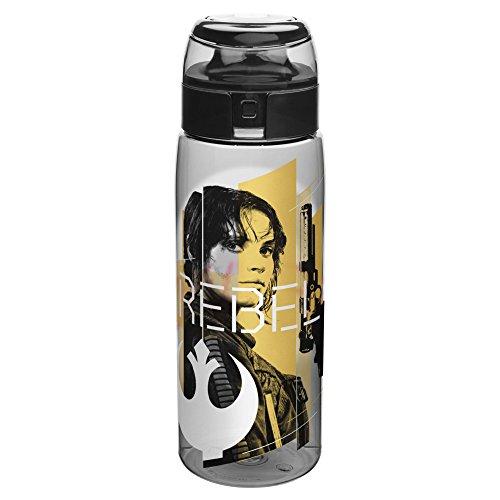 Zak Designs Star Wars Rogue One 25 oz. BPA-Free Wide Mouth Bottle, Jyn (Falcons Bottle Cap)