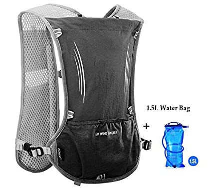 XUSHSHBA 5L Outdoor Sport Running Backpack Marathon Trail Running Hydration Vest Pack for 1.5L Water