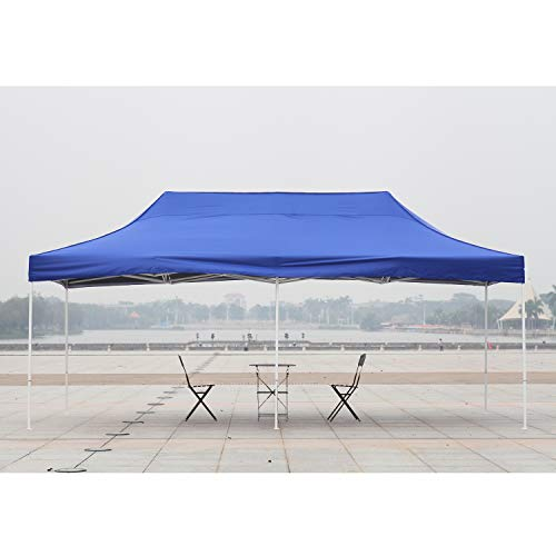 American Phoenix 10x10 10x15 10x20 [White Frame] Portable Event Canopy Tent, Canopy Tent, Party Tent Gazebo Canopy Commercial Fair Shelter Car Shelter Wedding Party Easy Pop Up (Blue, ()