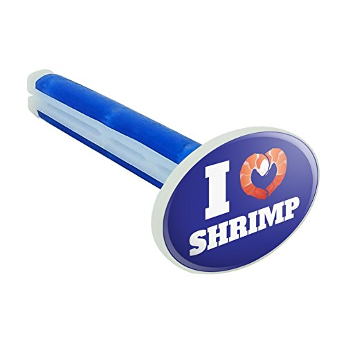 Graphics and More I Love Shrimp with Heart Car Air Freshener Vent Clip - New Car - Love Shrimp