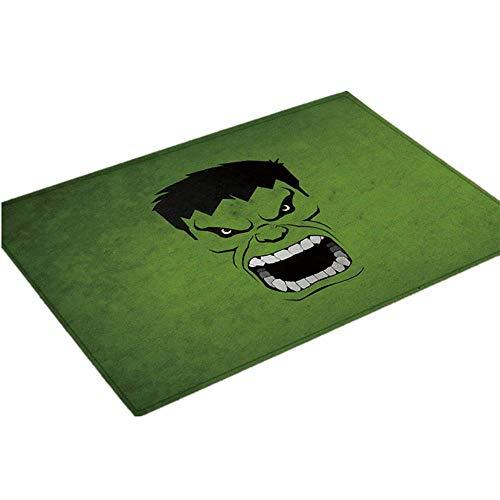 SanQing Mat The Avengers Rugs Hulk Flannel Digital Print Non-Slip Waterproof Mat Captain America Rugs (15.748 ()