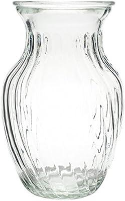 Royal Imports Jarrón de vidrio de flores con eje central decorativo para boda o hogar Claro