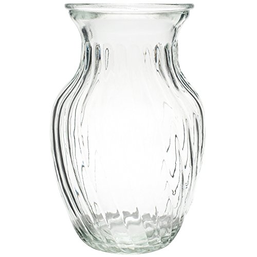 Royal Imports Flower Bunch Glass Vase Decorative Centerpiece for Home or Wedding - Swirl Style - 8