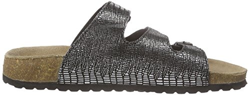 Black Mules 372 Silber 274 Mujer 009 Plateado Softwaves qwHYCW
