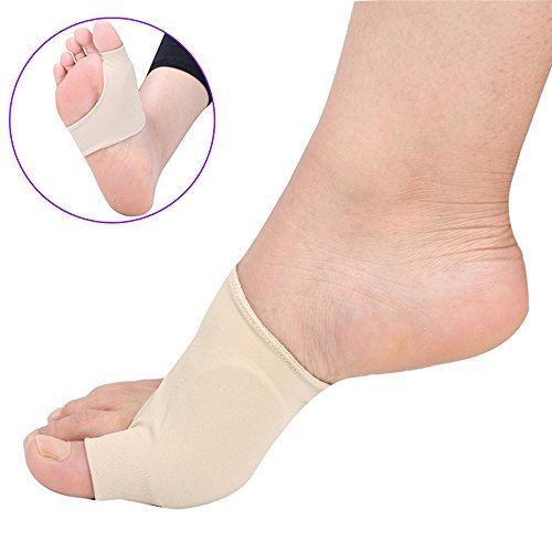 Bunion Corrector - Hallux Valgus Gel Bunion Protector By Compressx - Pair of Bunion Relief Sleeves for Men size 5 to 13 & Women size 7 to 14 (Large)