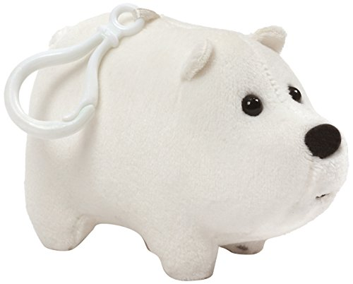 GUND Cartoon Network We Bare Bears Ice Bear Backpack Clip, White, 2.5