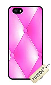 iPhone 5 Case,iPhone 5S Case,VUTTOO iPhone 5 Cover With Photo: Pink Upholstery For Apple iPhone 5/5S - PC Black Hard Case