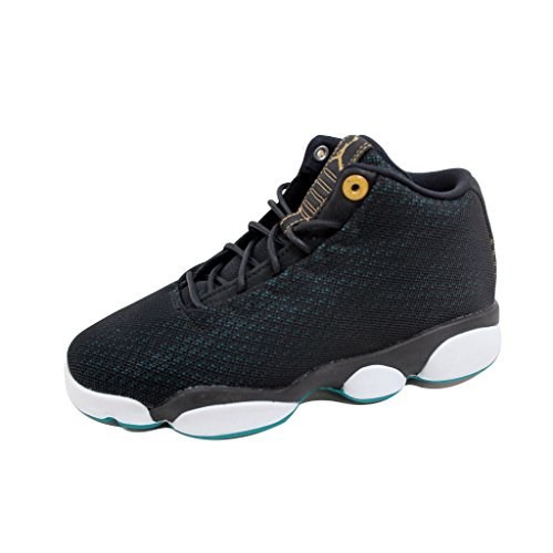 uk availability 20464 a775c Jordan Horizon Low Black/Metallic Gold-Rio Teal (Big Kid) (4 M US Big Kid)