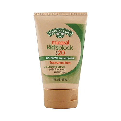 Natures GATE Mineral Kid's Sunblock SPF 20, 4 FZ