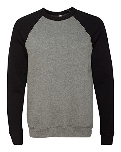 Bella + Canvas Unisex Sponge Fleece Crew Neck Sweatshirt - DP Heather/BLK - M - (Style # 3901 - Original Label)