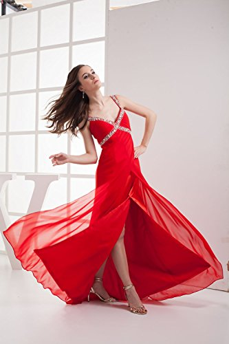 Bridal_Mall - Robe - Trapèze - Sans Manche - Femme -  Bleu - 36