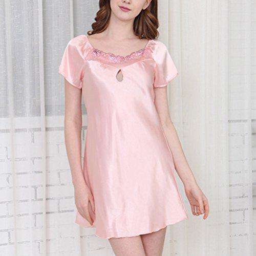Pink Chemise Zhhlaixing Nightdress Slip Lingerie Notte Raso Light Sleepwear Donna da Babydoll Camicia SWS7Zq