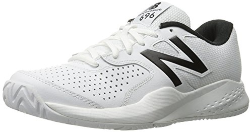 New Balance Men's MC696v3 Hard Court Tennis Shoe, White, 9 2E US by New Balance