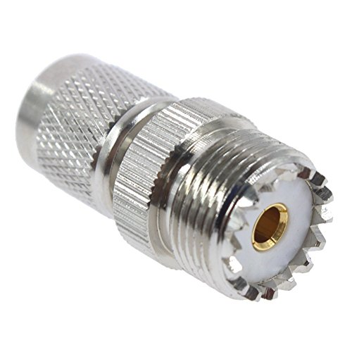 DHT Electronics RF coaxial coax adapter TNC male to UHF female connector