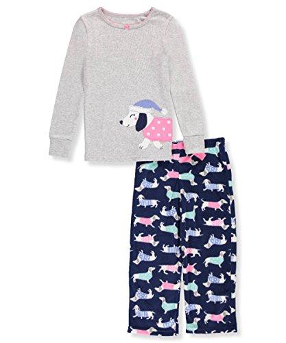 Carter's Baby Girls' 12M-14 2 Piece Dog Fleece Pajamas 3T