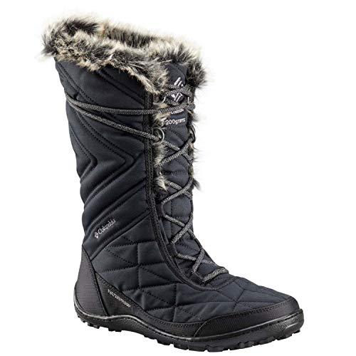 Columbia Women's Minx III Mid Calf Boot, Black, ti Grey Steel, 7.5 Regular US (Womens Omnitech Columbia)