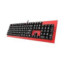 Azio MK-HUE-RD Teclado Mecánico Hue, Color Rojo