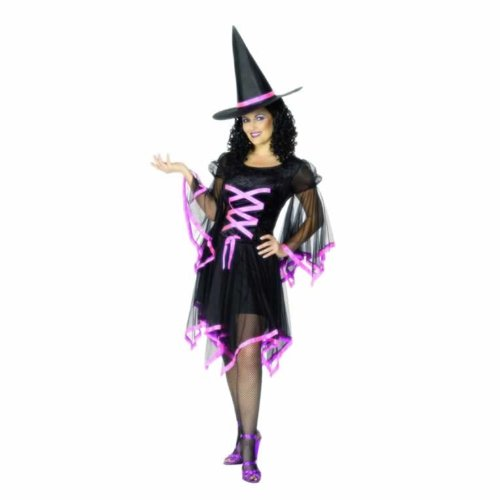 Smiffys Glamorous Pink Halloween Witch Costume For Women