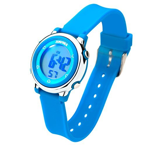 Unisex Touch Digital LED Screen Waterproof Sport Wristwatch Pink - 2
