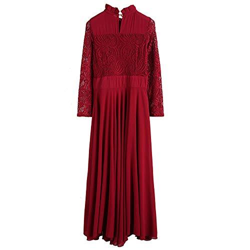 Littleice Formal Gown Women Dress Long Dress Lace Long Chiffon Sleeve Dress A Line Vintage Ball Evening Prom Party 4A4wCgxUpq