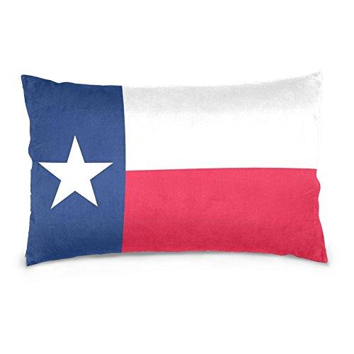 SUABO Flag of Texas Cotton Velvet Decorative PillowCase Cover 20 X 30 inch