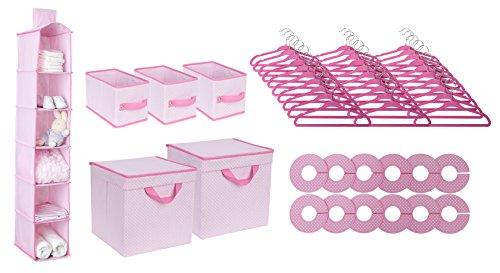 Delta Children Nursery Storage Set, Pink, 48 Piece