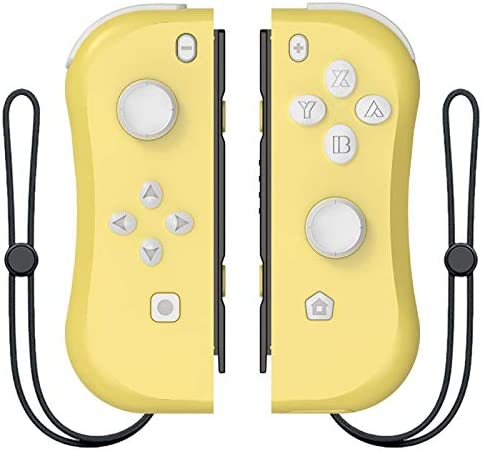 MINHUISHANGMAO NintendスイッチコンソールR25用ワイヤレスBluetooth左右ゲームコントローラーゲームパッド用NintendスイッチNSゲーム (色 : Yellow)