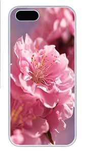 Hot iPhone 5S Customized Unique Print Design Plum Blossom Macro New Fashion PC White iPhone 5/5S Cases